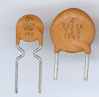 1 Marking Yellow Ceramic Capacitor